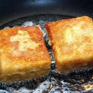 Жаренный сыр с начинкой из бекона